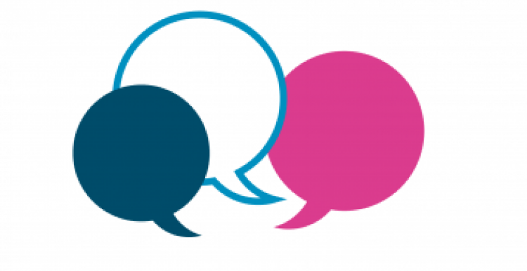 Speech bubbles in Healthwatch colours