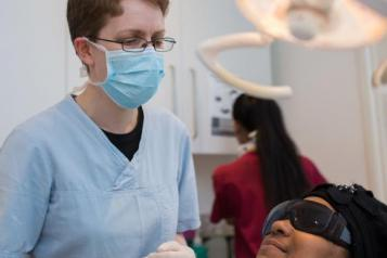 dentist wearing a mask