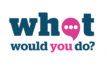 what would you do banner Blue