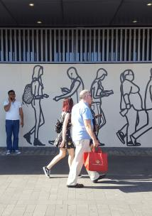 people walking in the City of London