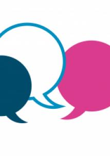 Speech bubbles in Healthwatch colours