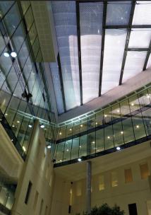 Glass Foyer of St Bartholomew's Hospital